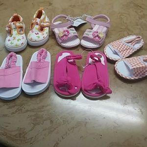5 pairs of girls sandals